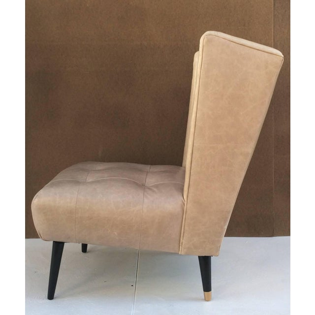 1950s 1950s Leather Club Chairs - A Pair For Sale - Image 5 of 10
