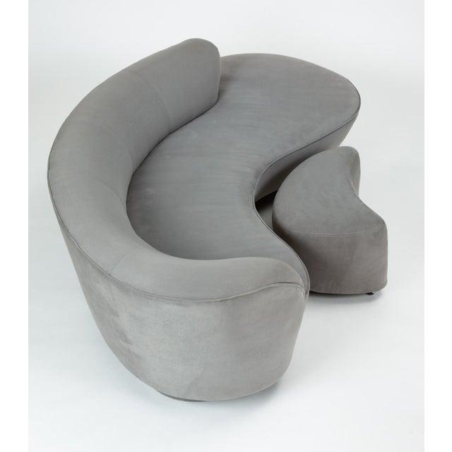 Vladimir Kagan Gray Cloud Sofa With Ottoman For Sale - Image 11 of 13