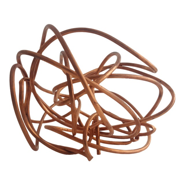 """Original Copper Coil """"Chaos"""" Twisted Knot Sculpture For Sale"""