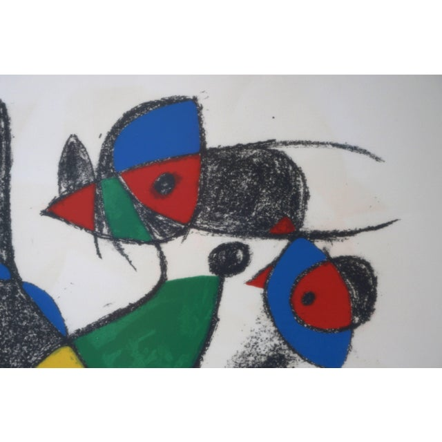 Mourlot Lithograph by Joan Miro, Circa 1975, Lithographs Ii, Plate 10, Mourlot Paris For Sale - Image 4 of 10