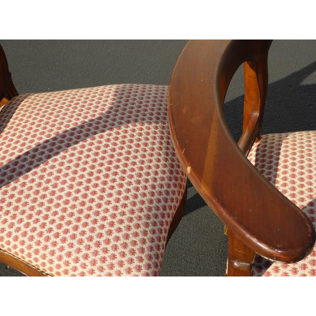 French Country Red Plaid Accent Chairs - A Pair For Sale - Image 9 of 10