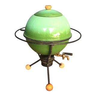 Mid-Century Sputnik Samovar Mad Men 1960s Atomic Enamel Coffee Dispenser