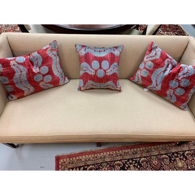 Textile Contemporary Handwoven Cotton Velvet Pillow For Sale - Image 7 of 9