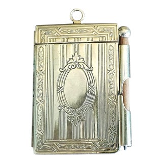 19th C. British Ladies Brass Pocket Notebook For Sale