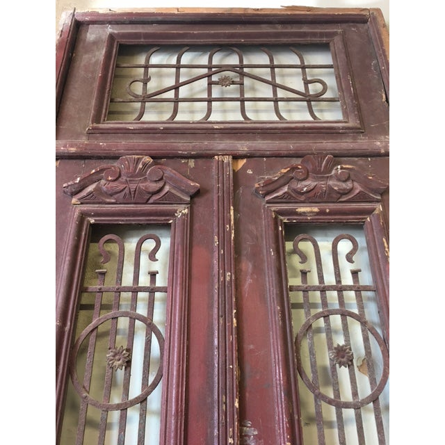 Antique Rustic Brown Egyptian Doors For Sale - Image 5 of 5 - Antique Rustic Brown Egyptian Doors Chairish