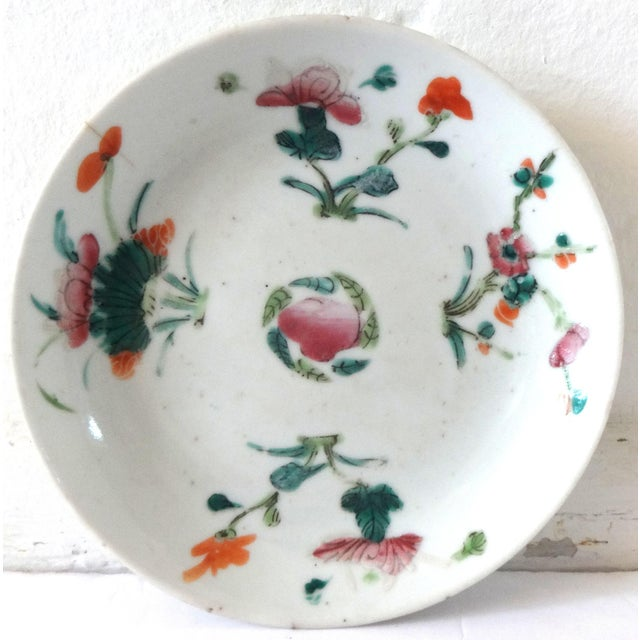 White 1736-1795 Qianlong Chinese Export Porcelain Famille Rose Dish For Sale - Image 8 of 8
