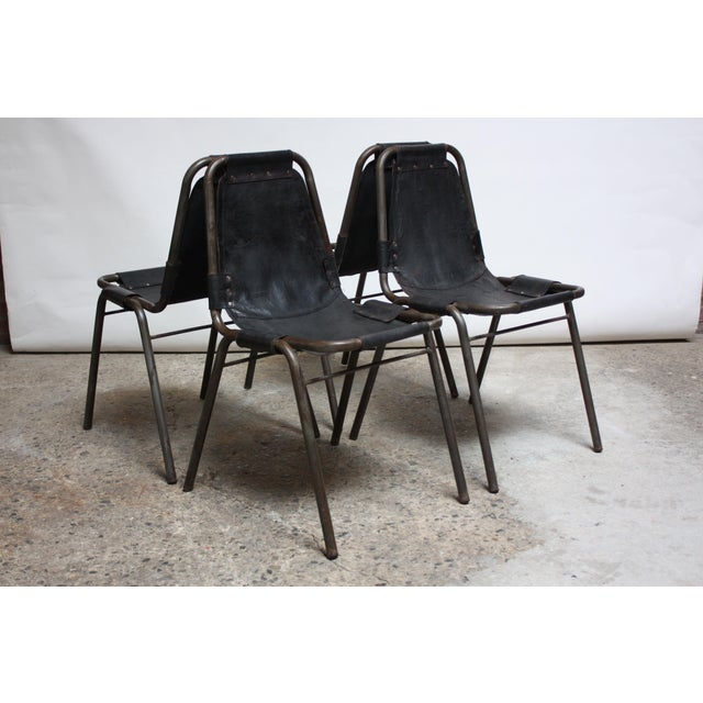 Early Set of Four 'Les Arcs' Chairs by Charlotte Perriand - Image 13 of 13