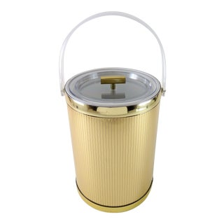 Georges Briard Mid-Century Modern Gold Ice Bucket For Sale