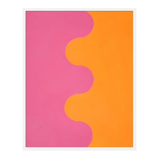 "Medium ""Hairpin Serpentine in Orange & Pink"" Print by Stephanie Henderson, 32"" X 40"" For Sale"