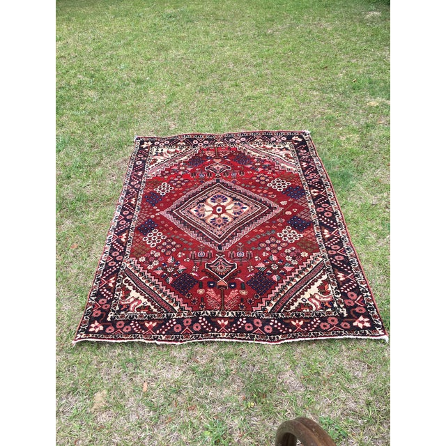 Antique Turkish Handmade Wool Rug - 2′7″ × 4′9″ For Sale - Image 5 of 5