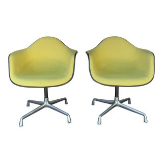 1970's Herman Miller Upholstered Shell Chairs - Pair For Sale