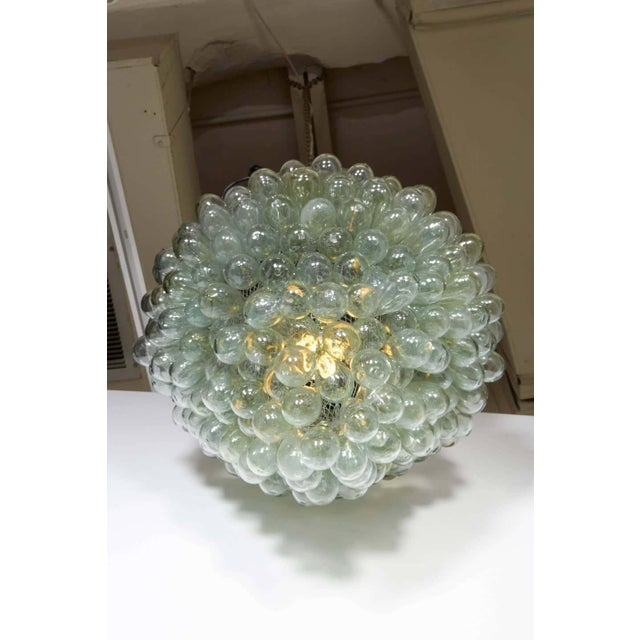 Grape Cluster' Blown Glass Light Fixture Flush Mount For Sale - Image 4 of 5