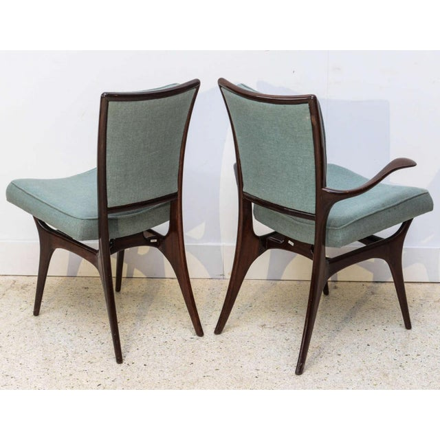 1950s Set of Four American Modern Dark Walnut Dining Chairs, Vladimir Kagan For Sale - Image 5 of 8