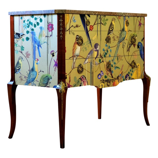 Yellow Christian Lacroix Louis XV Commode For Sale - Image 8 of 12