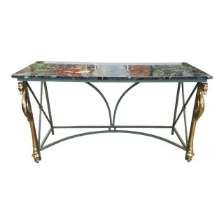 Art Deco Neoclassic Marble Table.