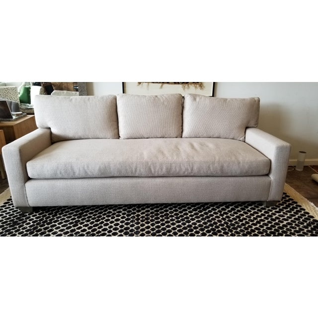 Contemporary -DL Rhein Design Belgian Linen Sofa For Sale In Los Angeles - Image 6 of 6