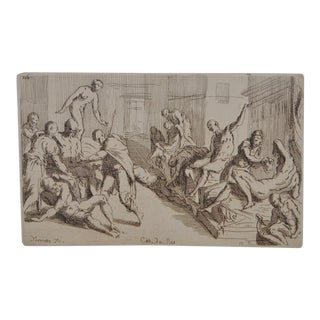 Early 20th Century Cab du Roi Etching After Tintoretto