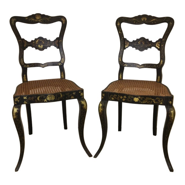 Pair of French Chinoisere Chairs For Sale