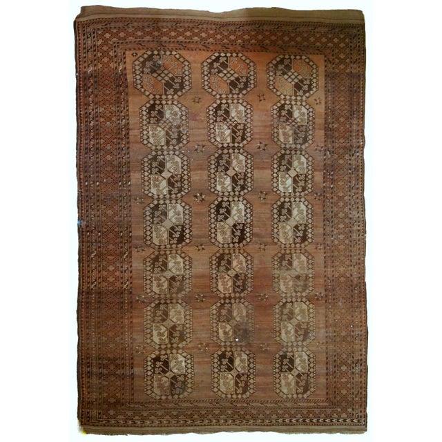 1900s handmade antique Afghan Ersari rug 8.6' X 11.8' For Sale - Image 13 of 13