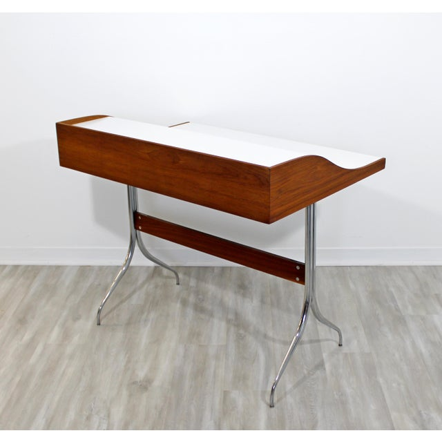Mid-Century Modern Early Production George Nelson Herman Miller Swag Leg Desk For Sale - Image 9 of 13