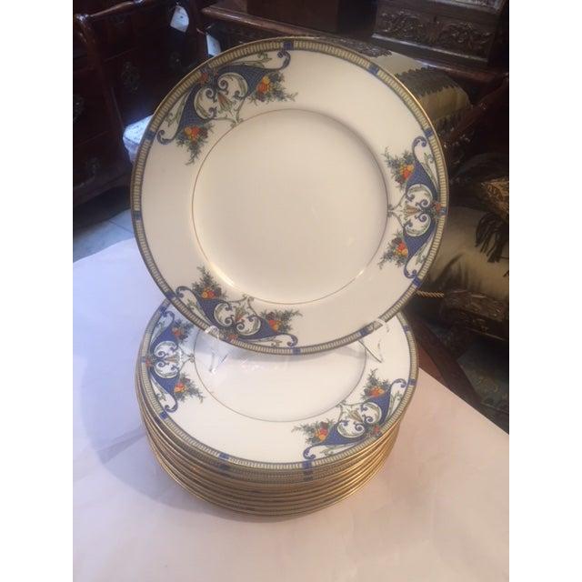 Royal Worcester Porcelain Dinner Plates - Set of 12 For Sale - Image 10 of 12