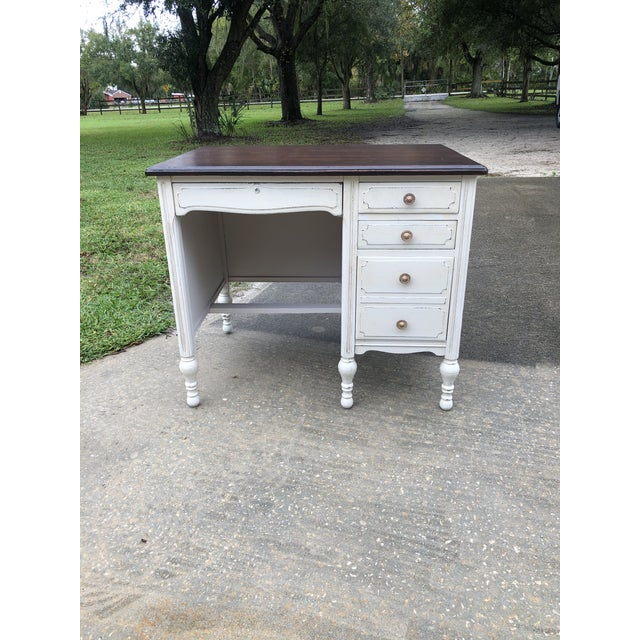 Vintage Traditional Mahogany Writing Desk For Sale - Image 11 of 11