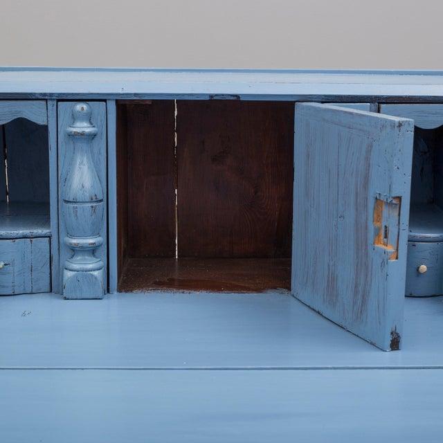 19th Century Swedish Blue Secretaire Desk For Sale - Image 9 of 10