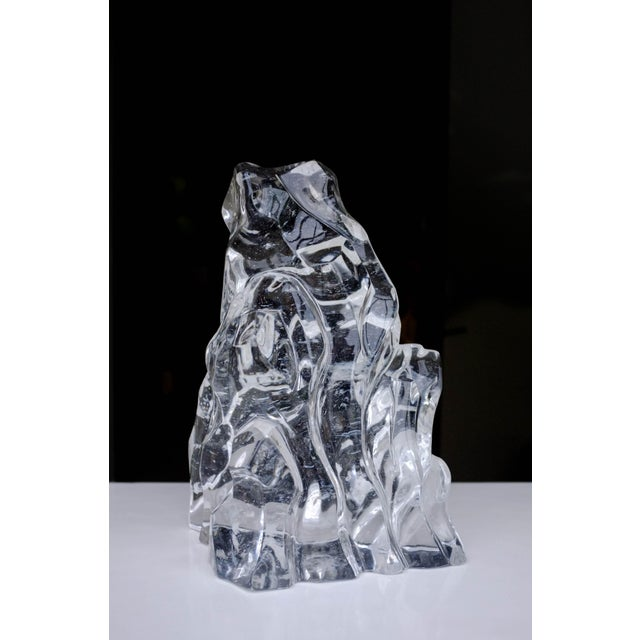 Contemporary Scholar Rock Crystal Sculpture - Vertical For Sale - Image 3 of 4