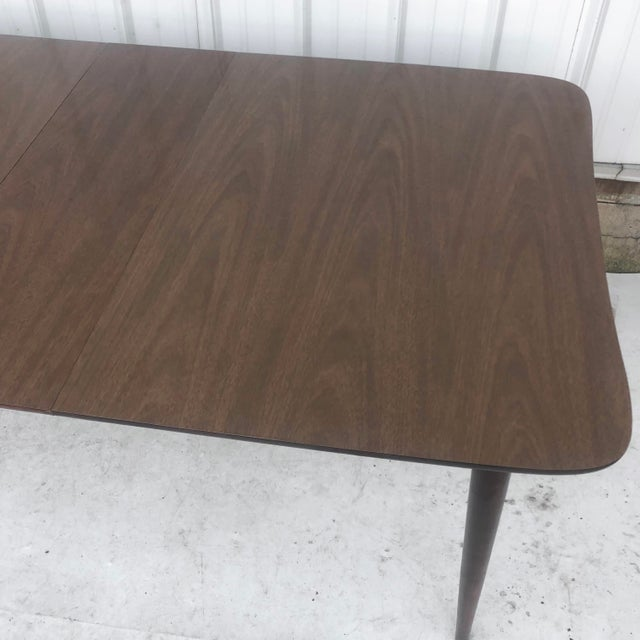 1970s Mid-Century Dining Table With Leaf For Sale - Image 5 of 13