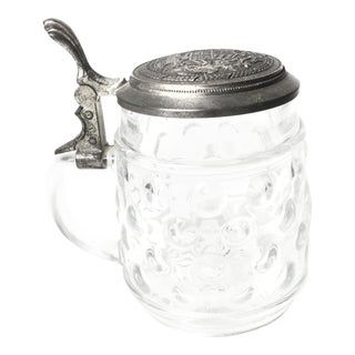 Vintage Glass Bubbled Beer Stein