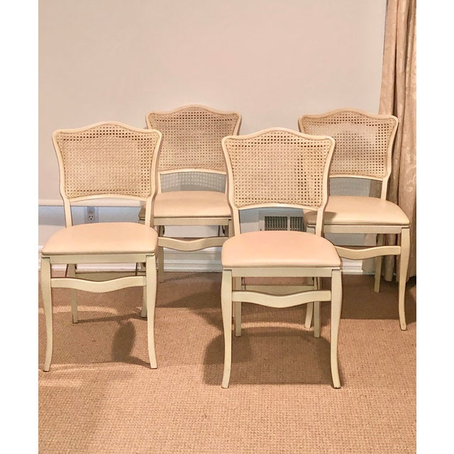 Caned Backed Neutral Colored Stackmore Folding Chairs - Set of 4 For Sale - Image 12 of 12
