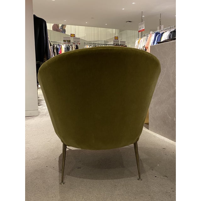 Gio Ponti Mid Century Chair With Mohair Upholstery For Sale - Image 4 of 6