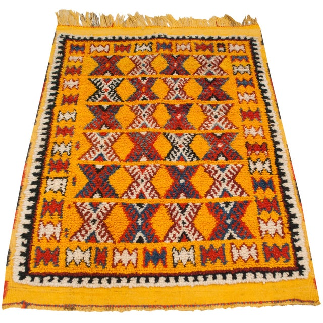 "1960s Vintage Murat Square Rug - 3'6"" X 4'8"" For Sale - Image 5 of 9"