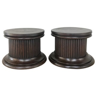 Pair Antique Neoclassical Pedestals ~ Risers For Sale