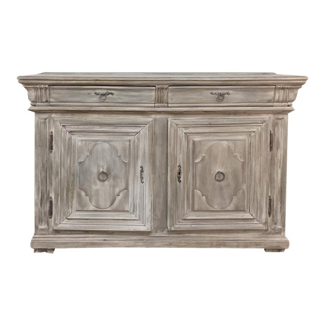Early 18th Century Country French Whitewashed Buffet For Sale