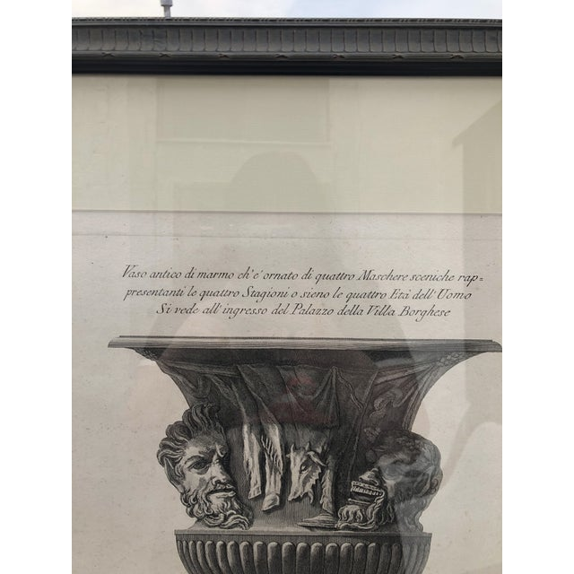 19th Century Piranesi Style Engraving of Urn Decorated With Four Seasons/Four Stages of Man For Sale - Image 4 of 13