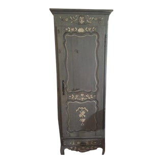 Antique French Painted Bonnetiere For Sale