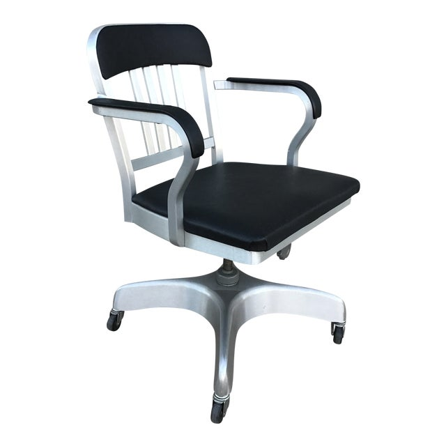 Vintage Emeco Rolling Office Chair For Sale