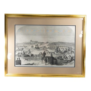 Late 19th Century Winslow Homer Lithograph of Central Park New York City, Framed For Sale