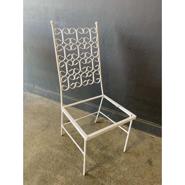 Mid Century Modern Arthur Umanoff Iron Patio Table & 4 Chairs For Sale In New York - Image 6 of 9
