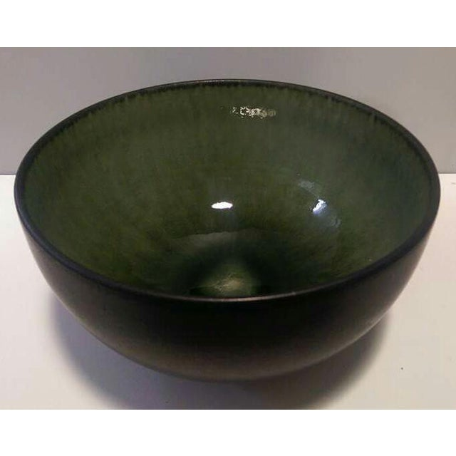 Jars France Samoa Vert Green Glazed Pottery Bowl - Image 2 of 8