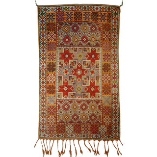 Antique Moroccan Berber Rug- 3′2″ × 5′6″ For Sale
