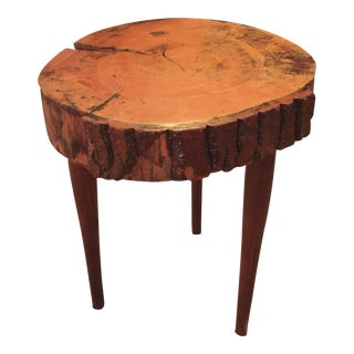 Rustic Live Edge Side Table For Sale