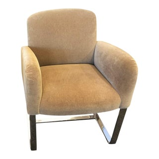 Donghia Tan Mohair Modern Designer Focal Arm Chair For Sale