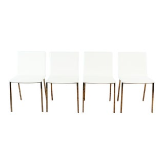 Cb2 Ivory Phoenix Dining Chairs- Set of 4 For Sale
