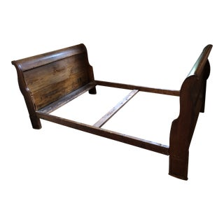 Mid 19th Century Sleigh Bed For Sale