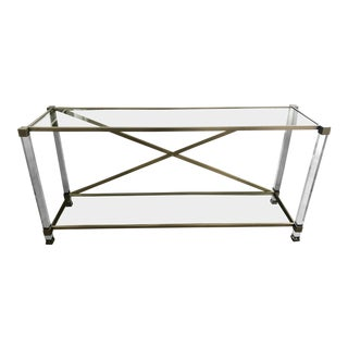 Vanguard Furniture Satin Brass Console