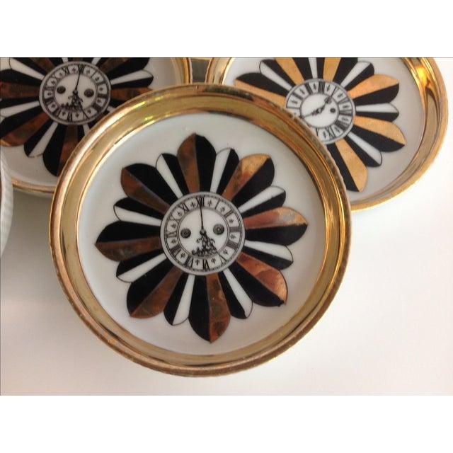 Shafford Porcelain Coasters - Set of 7 For Sale - Image 4 of 9
