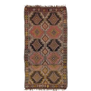 Flatweave Turkish Wool Kilim For Sale
