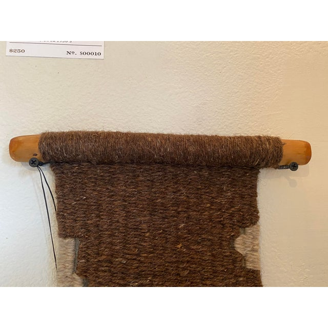Hand Woven Raw Wool Textile With Cow Vertebrae For Sale In Seattle - Image 6 of 9
